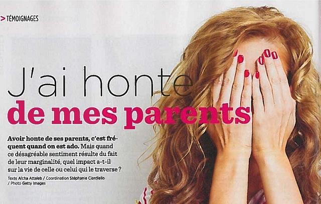 «J'ai honte de mes parents». Phénomène fréquent quand on est ado !